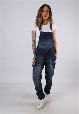 Vintage Denim Dungarees Slim Fit Stretch UK 18 XXL (HC3P)