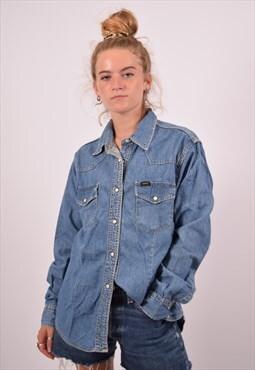 Vintage Lee Denim Shirt Blue