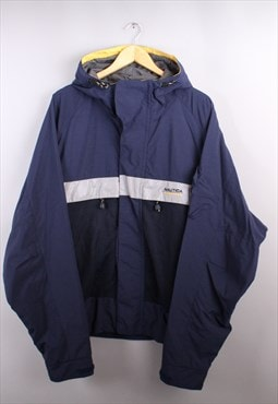 Mens Vintage Nautica Navy Light Weight Jacket