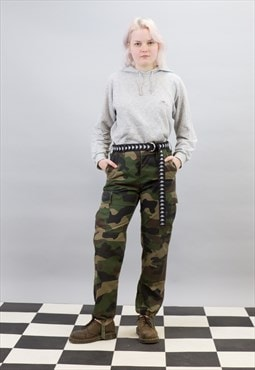 """Vintage 90s Camo Combat """"normany' Trousers"""