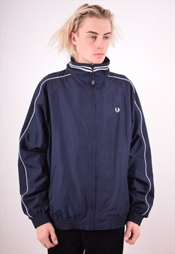 Fred Perry Mens Vintage Jacket XL Navy Blue 90s