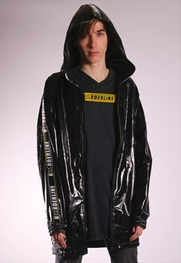Unisex Oversized Black Vinyl Jacket