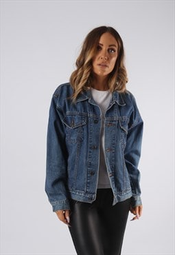 Vintage Denim Jacket Oversized Fitted UK 12 Medium  (JQ4H)