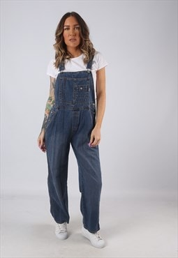 Denim Dungarees OLD NAVY Wide Straight Leg UK 10 (K3D)