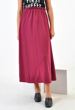 Vintage maxi skirt in maroon