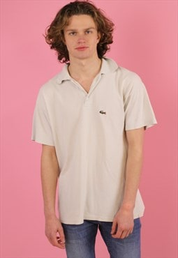 cream LacosTe Vintage Polo T shirt