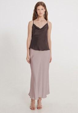 Satin skirt casual wear