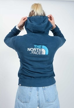 Vintage The North Face Hooded Fleece Blue