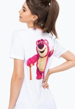 Toy story white lotso ringer women's t-shirt