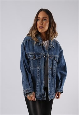 Vintage Denim Jacket Oversized Fitted UK 16 XL  (C3Z)