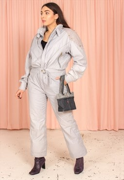 Vintage 70s Ski Suit in Grey