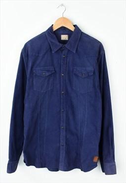 Vintage 90s Scotch & Soda Jumbo Cord Shirt Purple