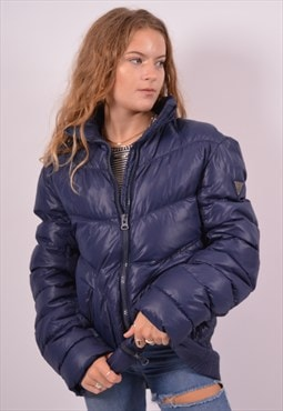 Vintage Guess Padded Jacket Blue