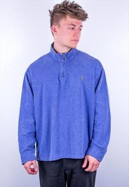 Vintage Ralph Lauren 1/4 Zip Sweatshirt in Blue