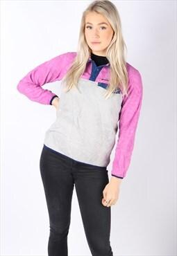 vintage PATAGONIA fleece jumper slim-fit XS 6 8 women's