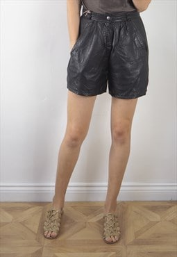 Vintage Black Leather SP Shorts