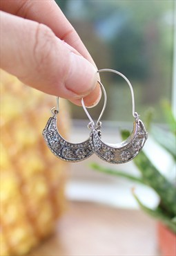 Boho Crescent Hoop Earrings