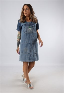 Vintage Denim Dress BICH REWORKED Dungarees UK 8 - 10 (9DDA)