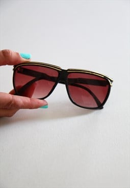 Vintage Black Frame,  Red lenses