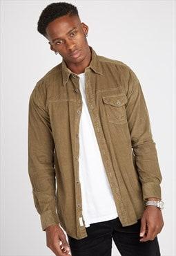 Vintage Brown Cord Shirt