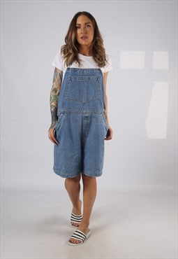 Vintage Denim Dungaree Shorts UK 18 XXL (HDAF)