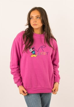Vintage  90s Pink Mickey Co Crewneck Sweatshirt