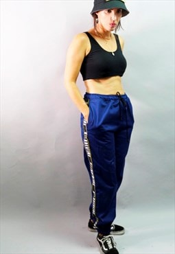 Unisex utility blue Pants Trousers