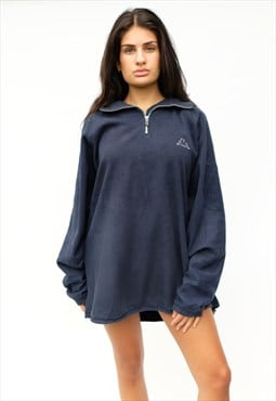 Vintage Kappa quarter zip fleece, navy blue