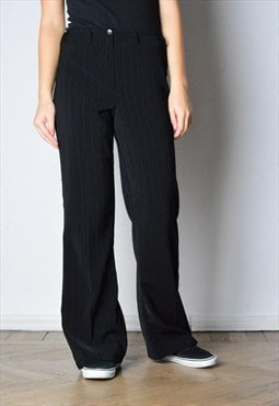 Vintage 90s Black Striped Pants