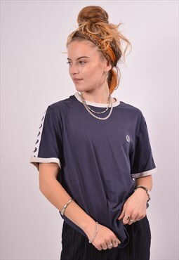 Vintage Fred Perry T-Shirt Top Blue