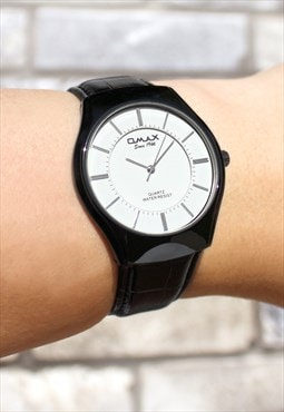 Omax Slim Black Watch