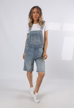 Denim Dungaree Shorts GAP Vintage UK 10  (J7BK)