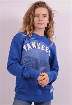 Majestic Vintage Yankees Sweatshirt Jumper Medium Blue 90s