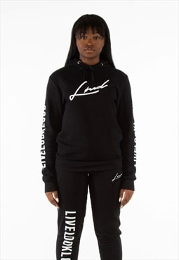 Black and White Signature Hoodie