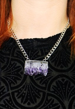MoonChild Amethyst slice choker