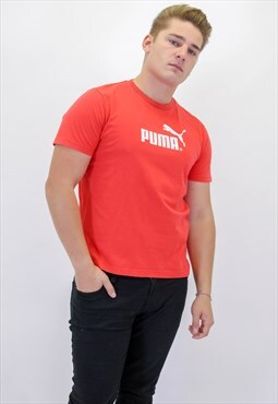 Vintage Puma T-Shirt in Red