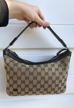 Womens Gucci handbag beige all over monogram print bag