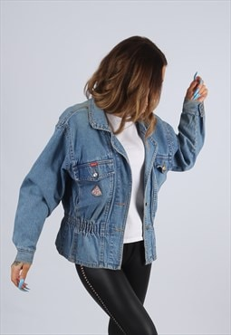 Vintage Denim Jacket Bomber RIFLE UK 8 XS  (J2P)