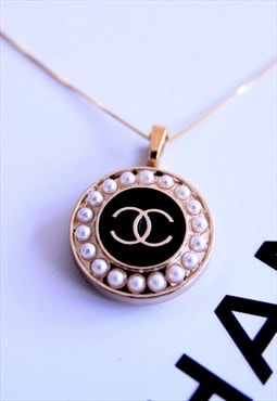 CC Belle in Black 18 Karat Gold Plated on Silver Sterling