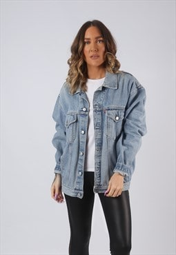 Denim Jacket Oversized Fitted Vintage UK 16 (CW3C)