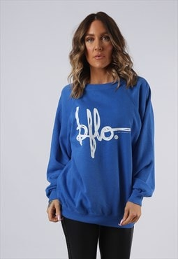 Sweatshirt Jumper Oversized BUFFALO Logo Print UK 16 (G9EZ)