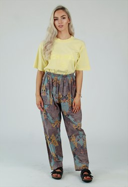90s oriental pattern beach pants