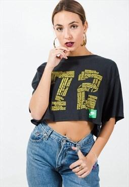 Vintage 90s Reworked Nike crop tshirt / S5951