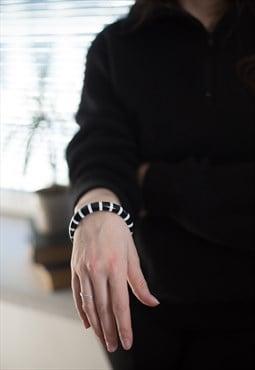 Vintage 90's Black/White Plastic Bracelet