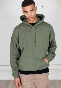 Cosmic Saint Mens Military Green Hoody
