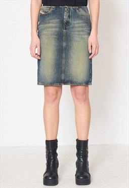 Vintage Blue DIESEL Denim Mini Skirt