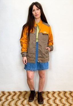 Vintage 90's French Workman's Orange Jacket