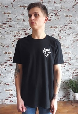 Blood Diamind print T-shirt in black