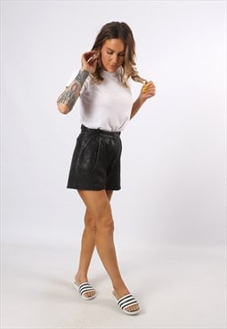 High Waisted Leather Shorts Bohemian UK 6 - 8 (K7CQ)