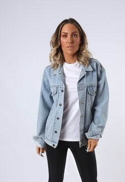 Denim Jacket Oversized Fitted Vintage UK 16 (EDAU)